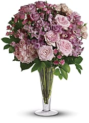 A La Mode Bouquet with Long Stemmed Roses Flowers